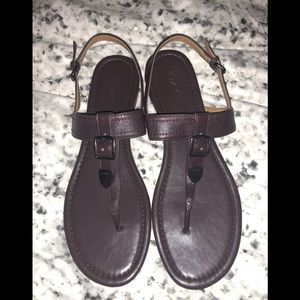 Coach Sz 10 Leather Sandals; Gently worn